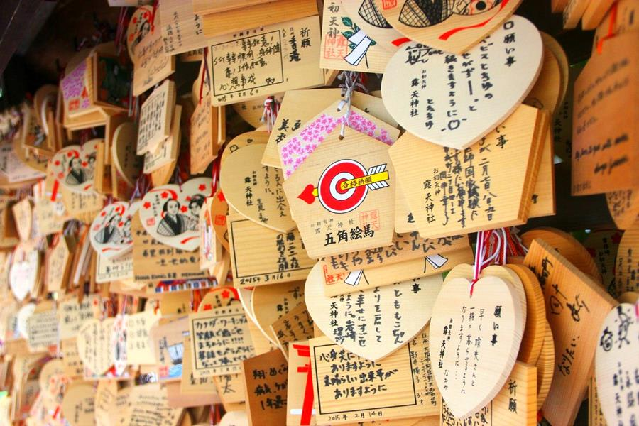 Japan-Tradition-Wishes-board