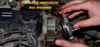 Как заменить уплотнительное кольцо катушки зажигания в Авео