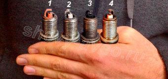 Диагностика двигателя Шевроле Авео по нагару на свечах зажигания