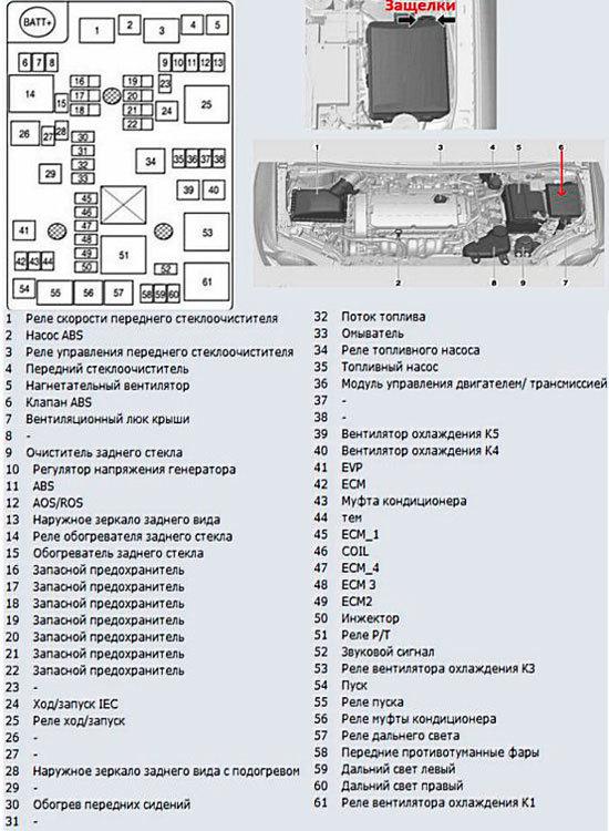 Схема наружного блока