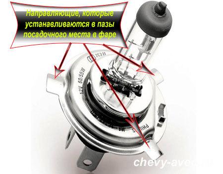 Как заменить лампочку в передней фаре Авео - Лампочка в переднюю фару