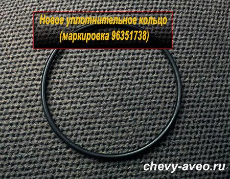 Как заменить уплотнительное кольцо катушки зажигания в Авео - Резиновое уплотнительное кольцо катушки зажигания Шевроле Авео