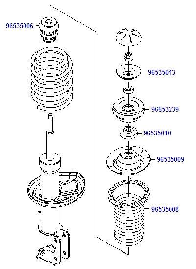 Схема разборки передней стойки