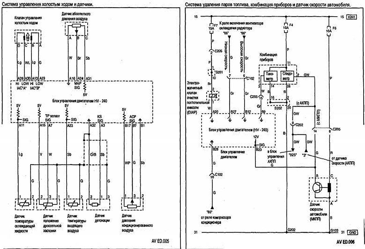схема бензонасоса шевроле авео
