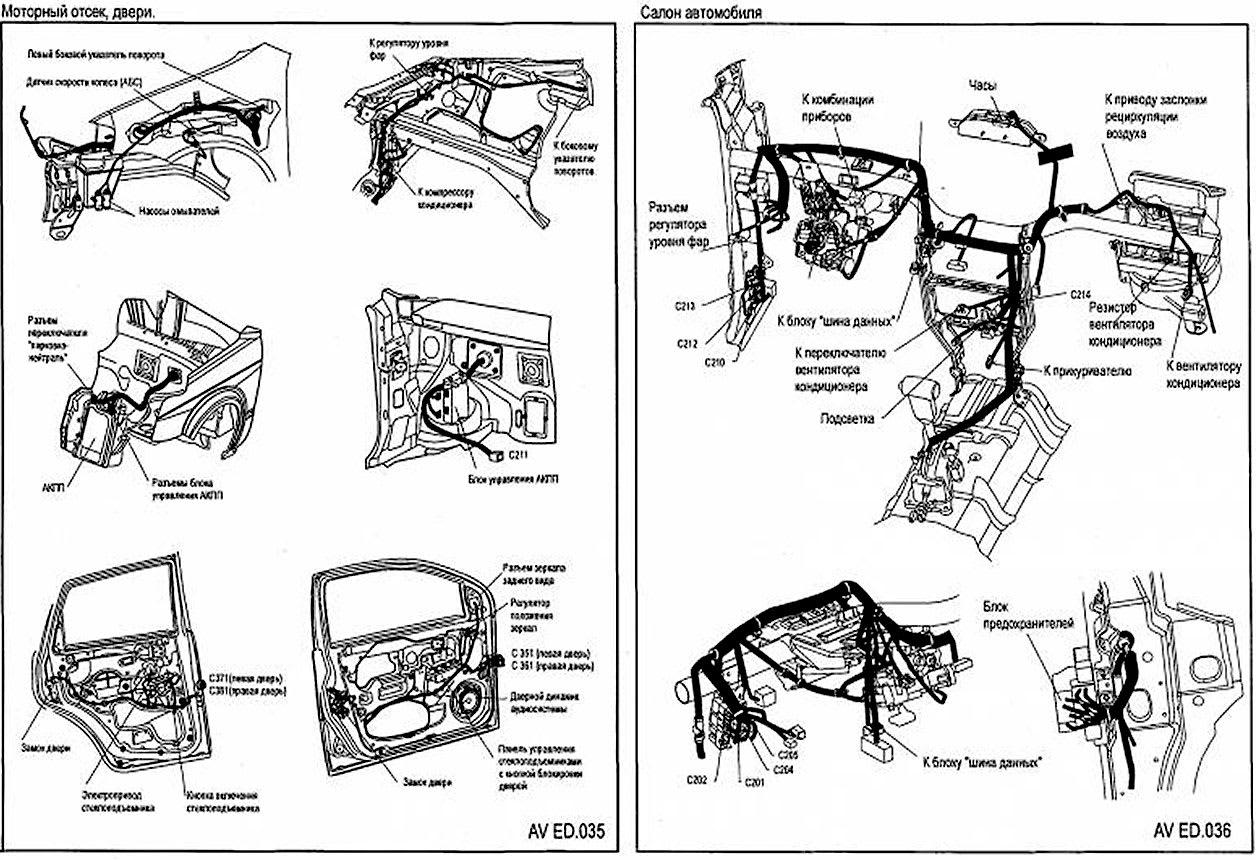 Схемы электрооборудования Chevrolet Aveo
