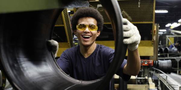 Goodyear do Brasil employee at work