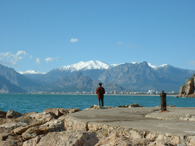 Seaside at Antalya, Turkey.