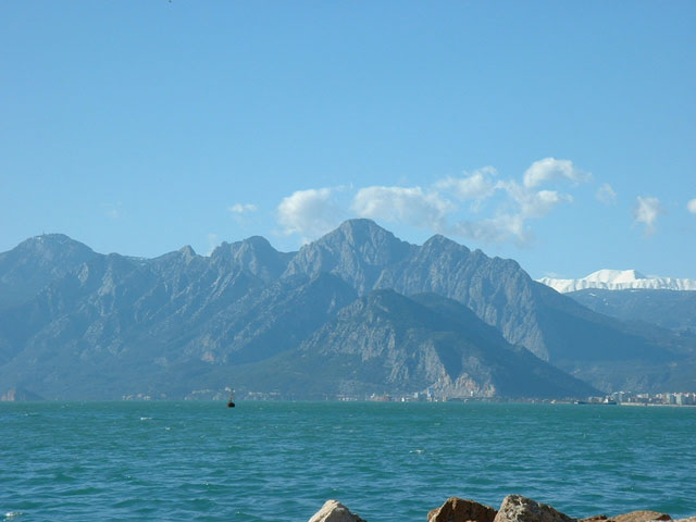 View of the Mediterranean Sea from Antalya.