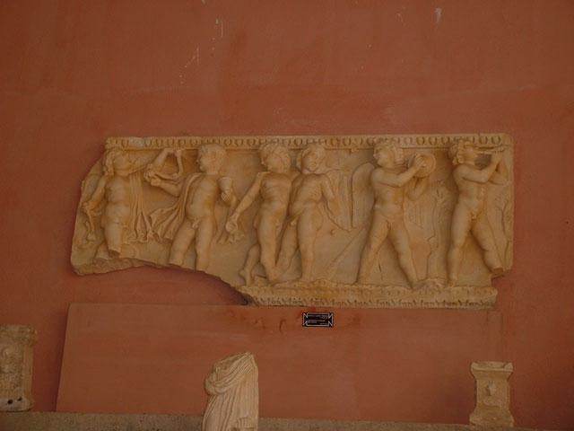 Greek Amphitheater Ruins Museum in Side, Turkey.
