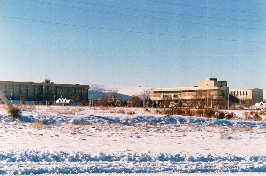 The Akimat and Palace of Culture in Winter, 1997