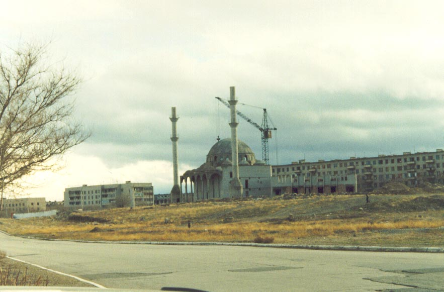 The unfinished Karatau Mosque in 1997