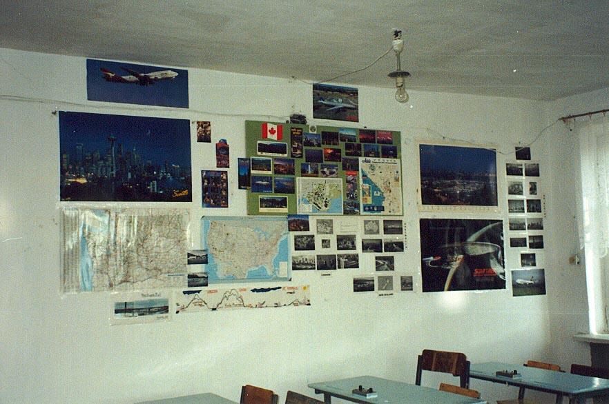 My American wall at the Karatau Lyceum (Karatau, Kazakhstan)