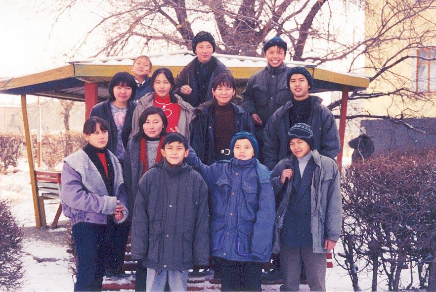 Grade 7 students at the Karatau Lyceum (Karatau, Kazakhstan)