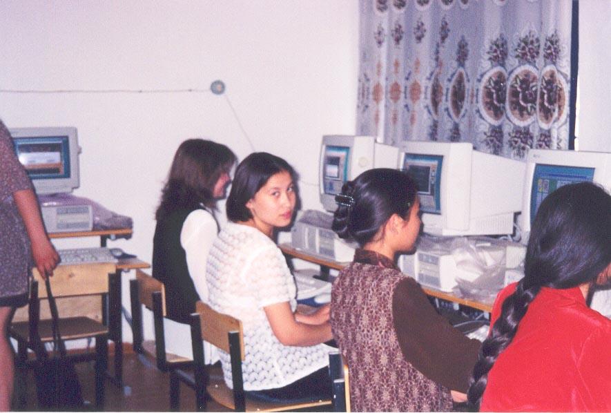 More computer students at the Karatau Lyceum (Karatau, Kazakhstan)