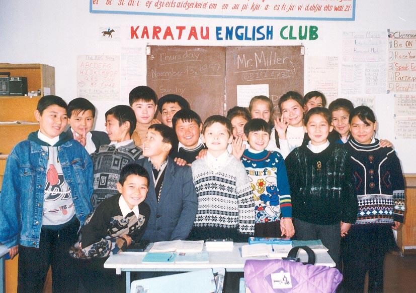 Grade 6B students at the Karatau Lyceum (Karatau, Kazakhstan)