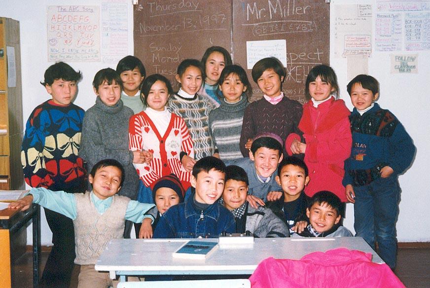Grade 6A students at the Karatau Lyceum (Karatau, Kazakhstan)