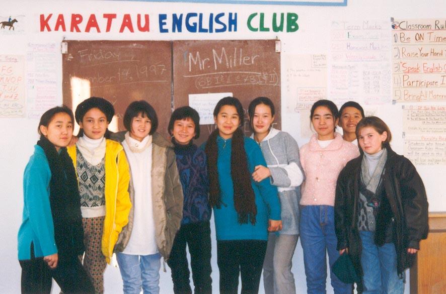 My Grade 8/9 students at the Karatau Lyceum (Karatau, Kazakhstan)