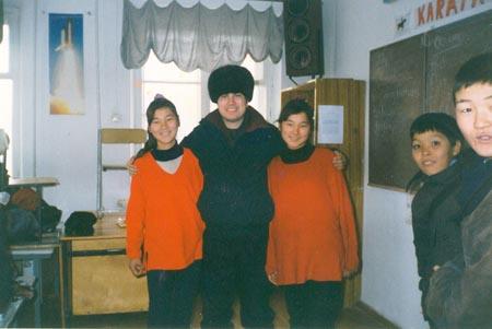 Grade 7 Twins at the Karatau Lyceum (Karatau, Kazakhstan)