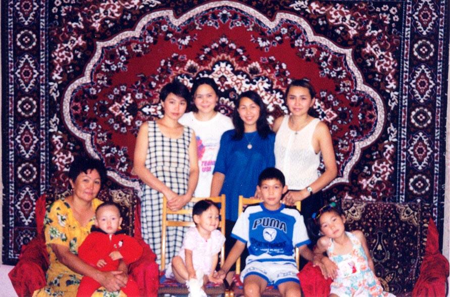 My Kazakh host family in Karatau, Kazakhstan