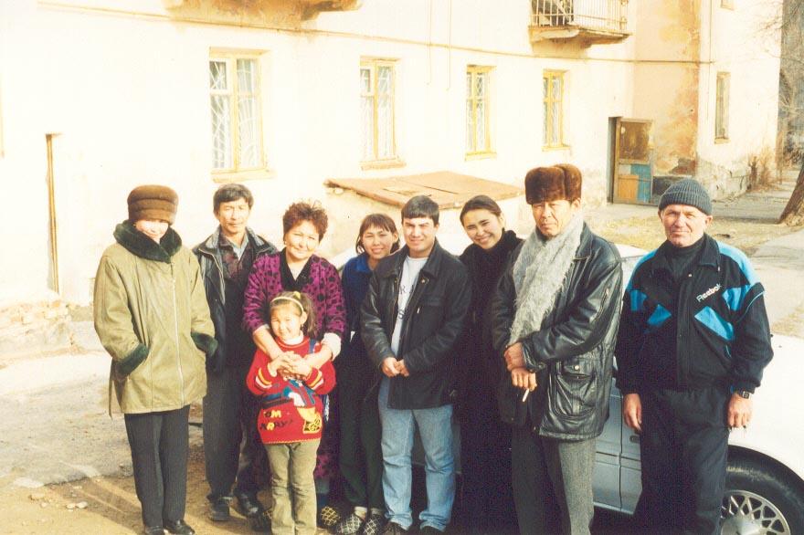 Kazakh host family in November, 1999