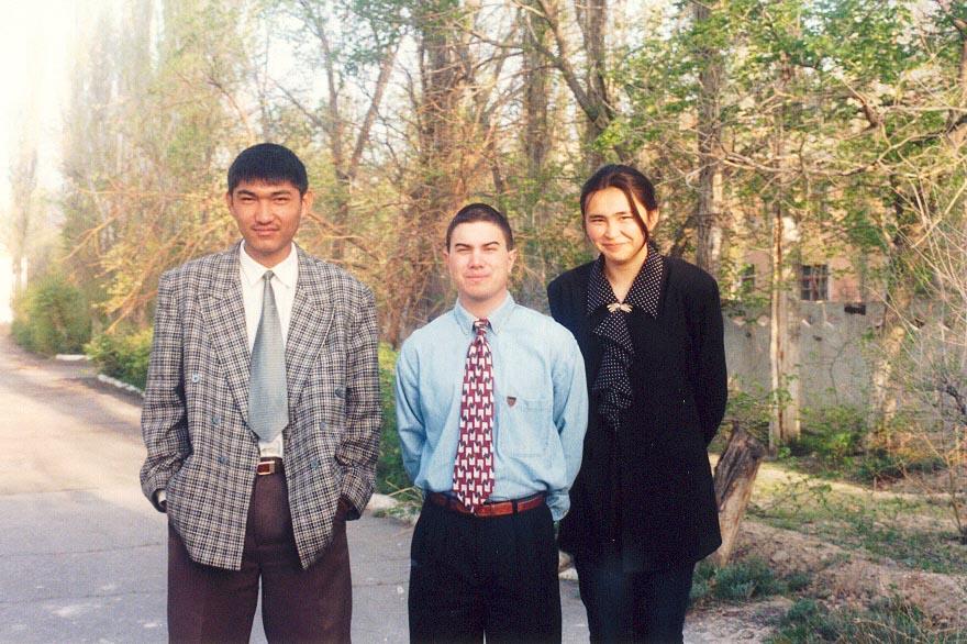 Gulzhan, my Kazakh host sister on the right, in Karatau, Kazakhstan.