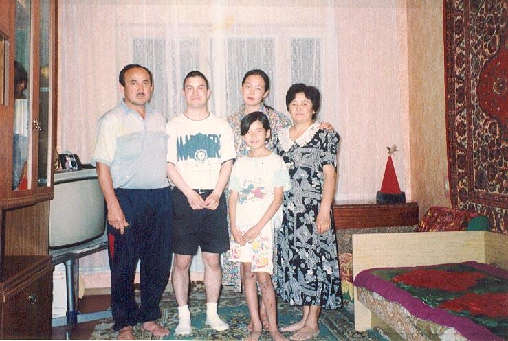 My Kazakh host family in Kapchagay.