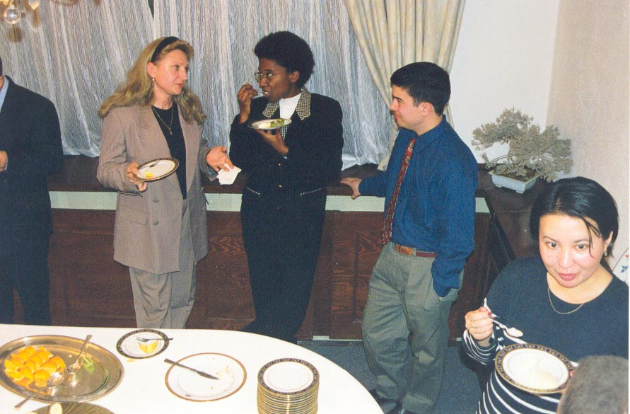 With the Peace Corps Medical Officer at the Japanese Embasssy in Almaty, Kazakhstan.