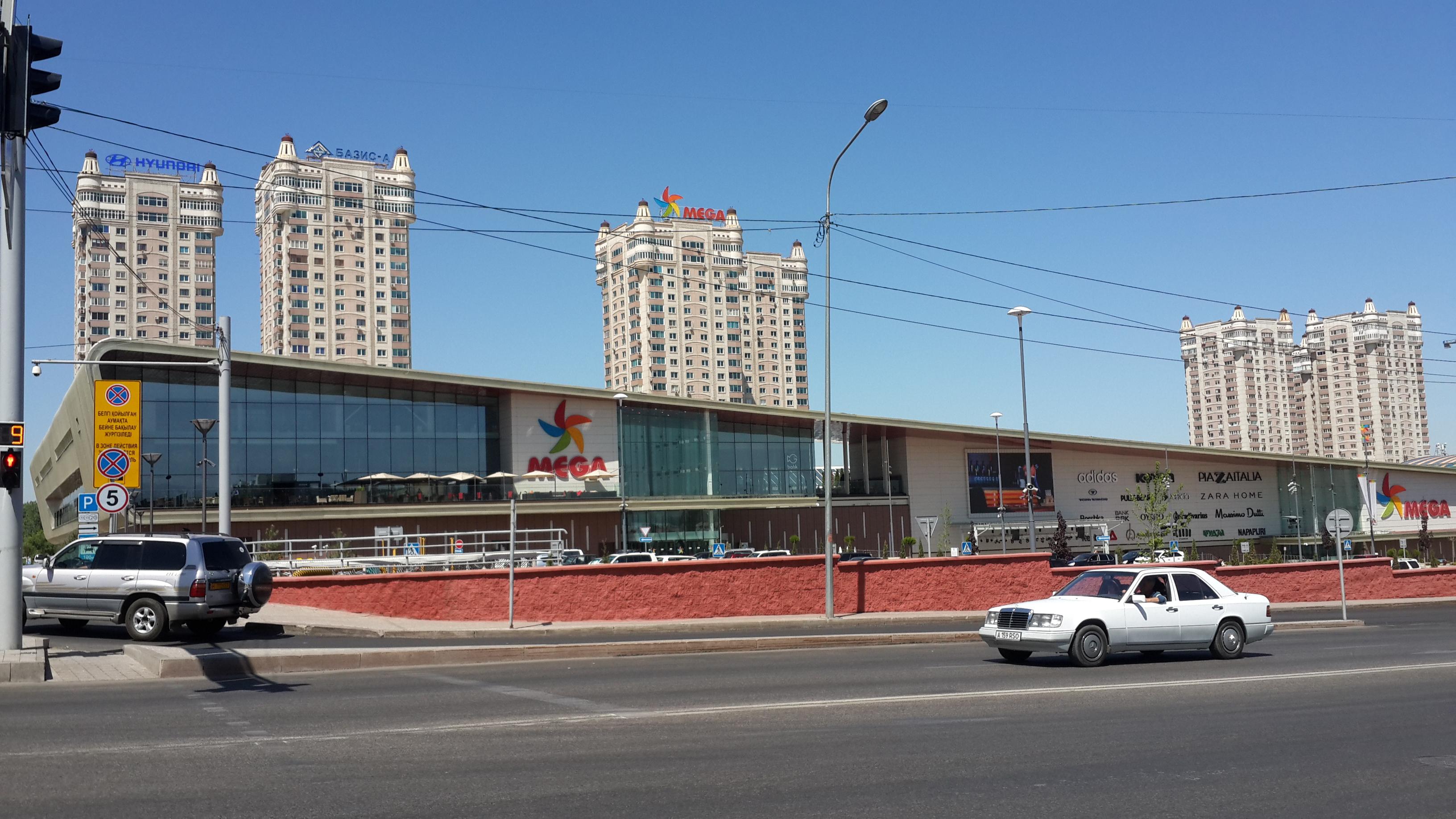 Mega Center and Mega Towers in Almaty, Kazakhstan.