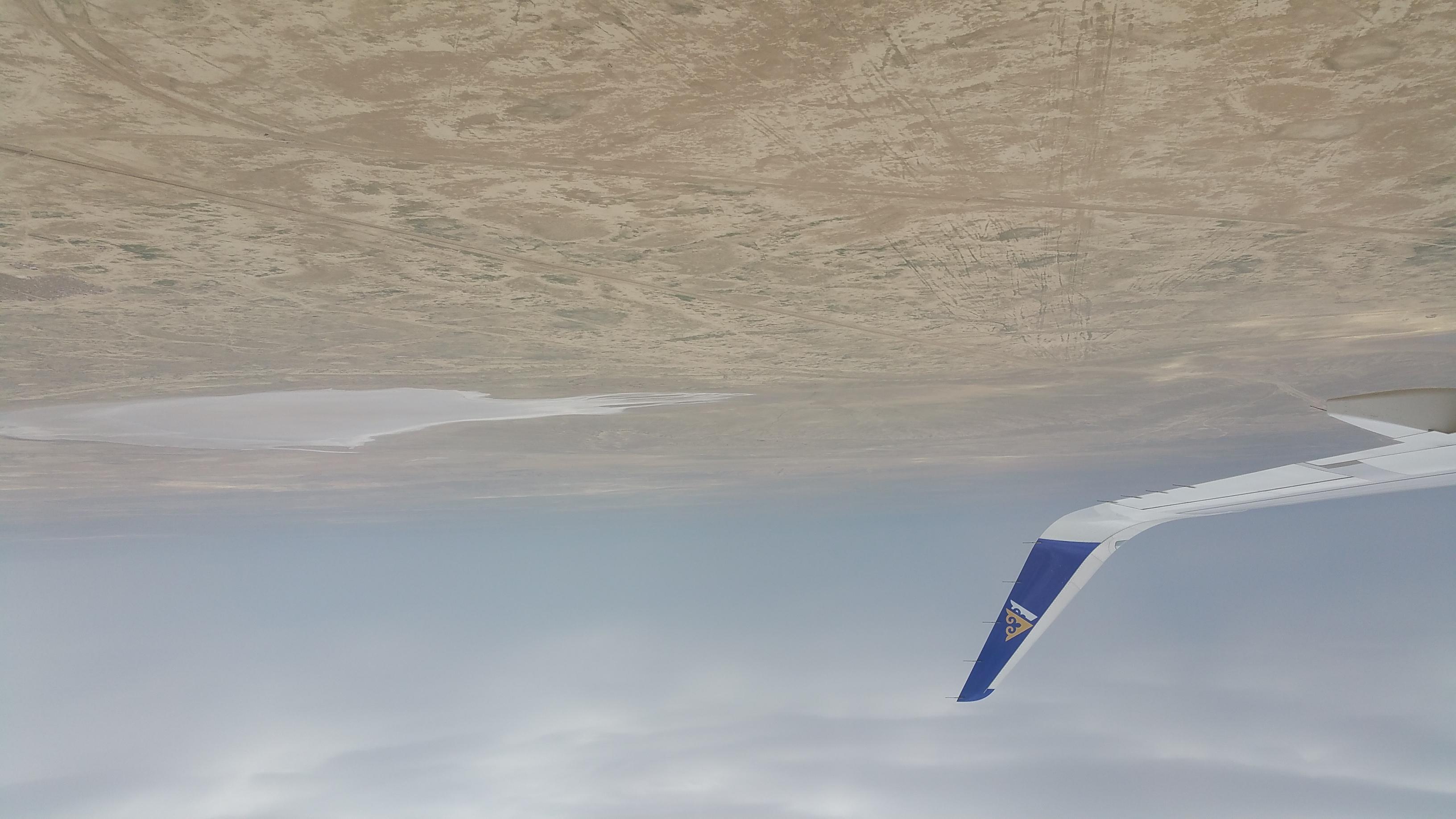 Descending to Aktau, Kazakhstan (May, 2015)