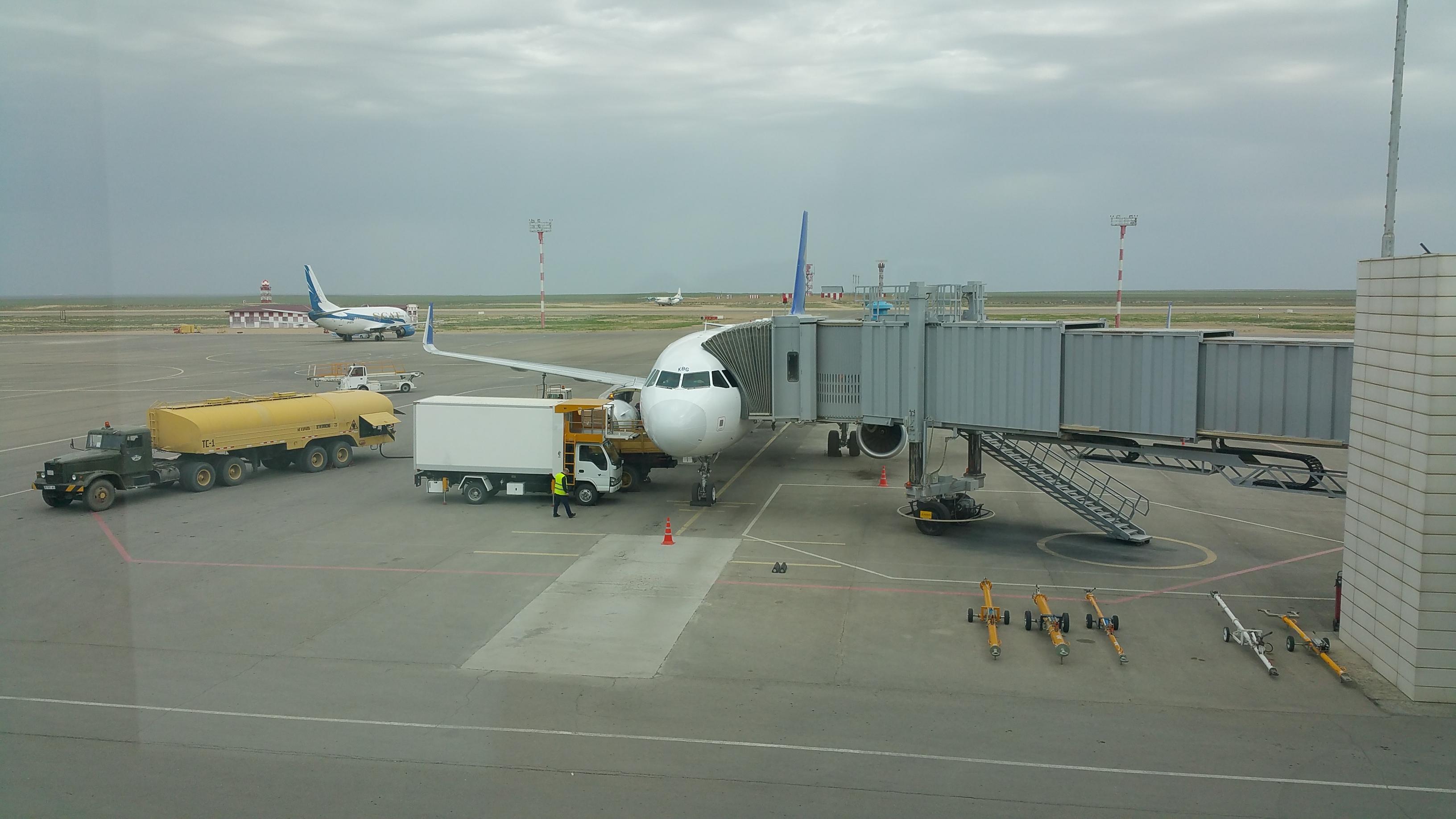 My Air Astana flight from Almaty to Aktau, Kazakhstan (May, 2015)