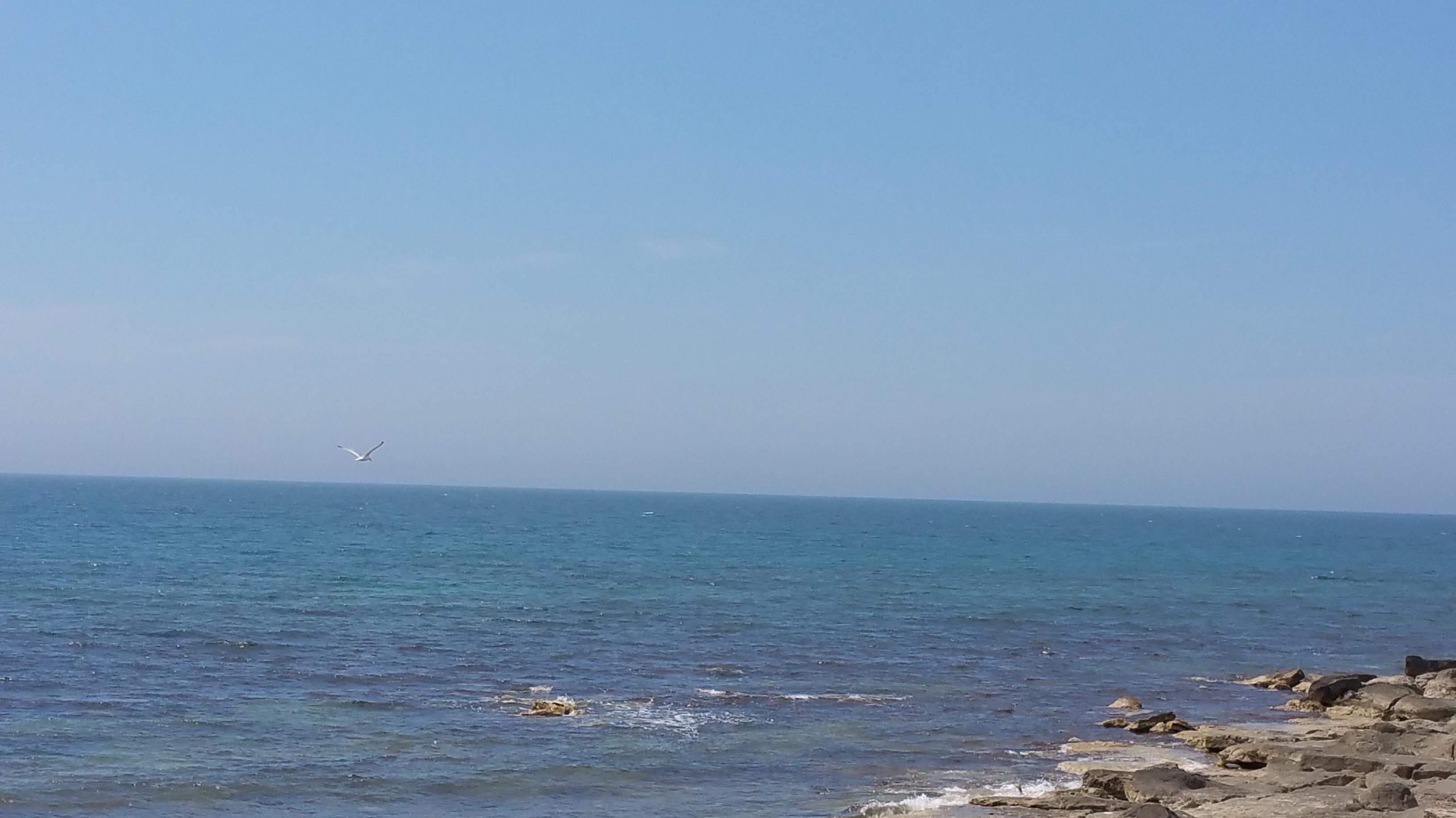 A view of the Caspian Sea, Aktau, Kazakhstan (May, 2015)