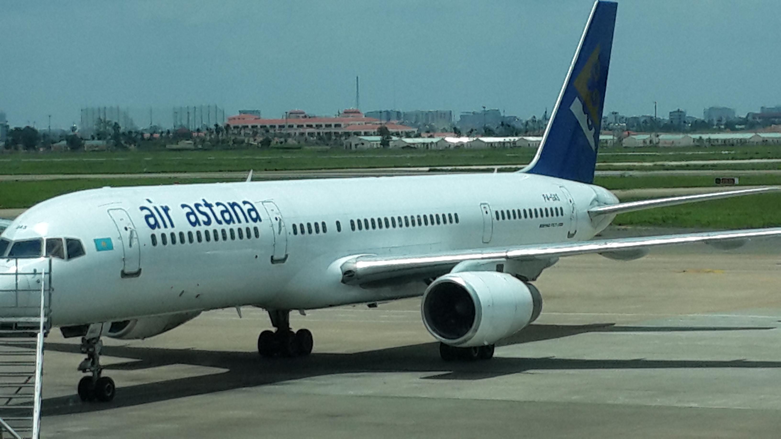 Air Astana at Tan Son Nhat Airport in Ho Chi Minh City, Vietnam.
