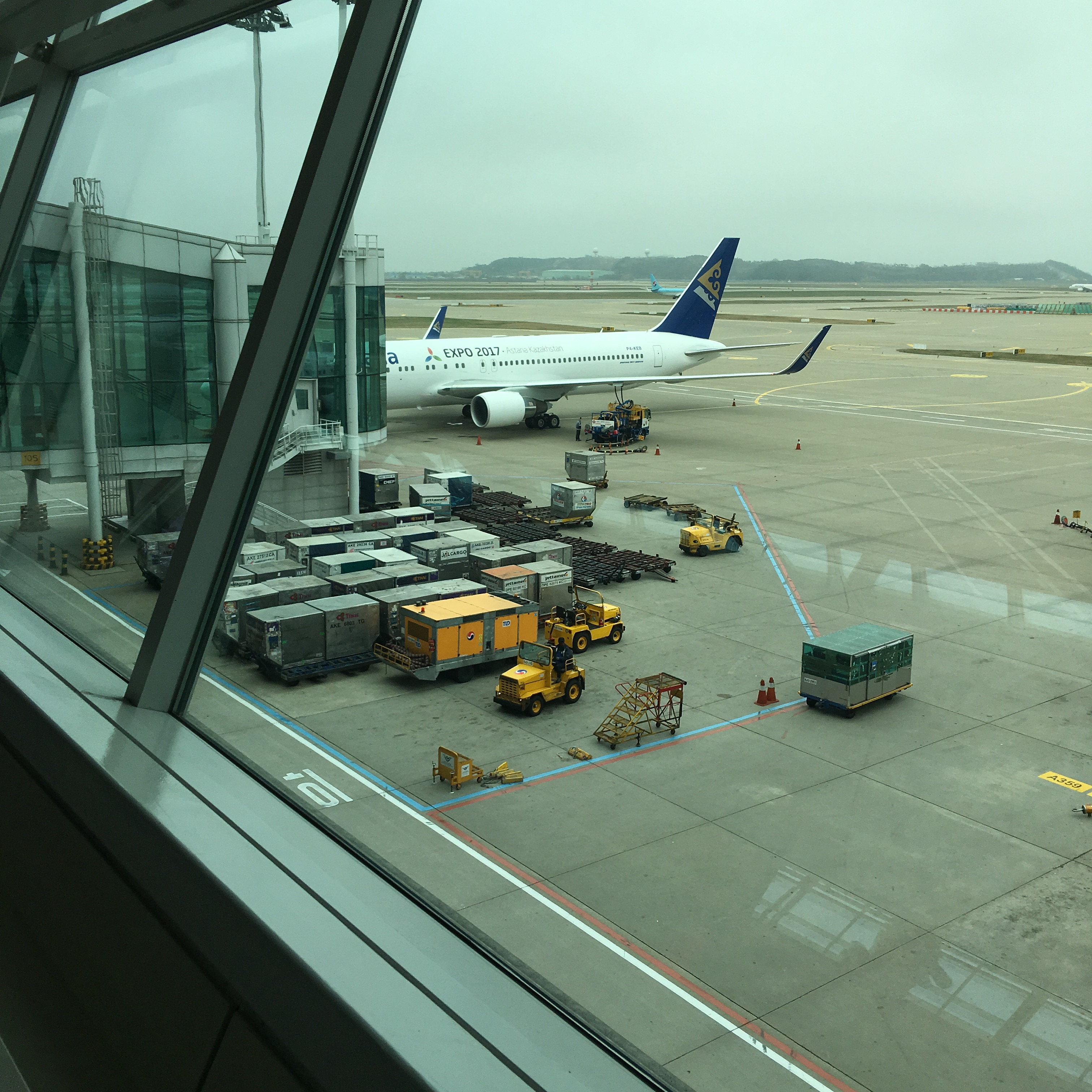 Air Astana in Seoul, South Korea.