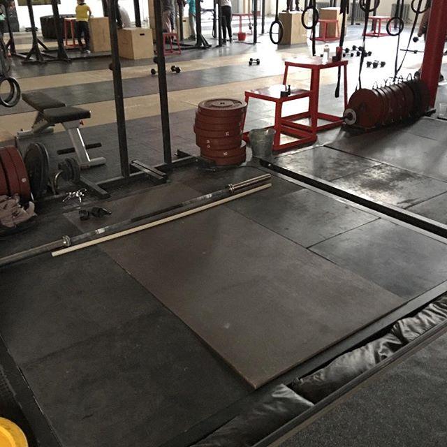 My lifting platform at Reactor Crossfit - Almaty, Kazakhstan