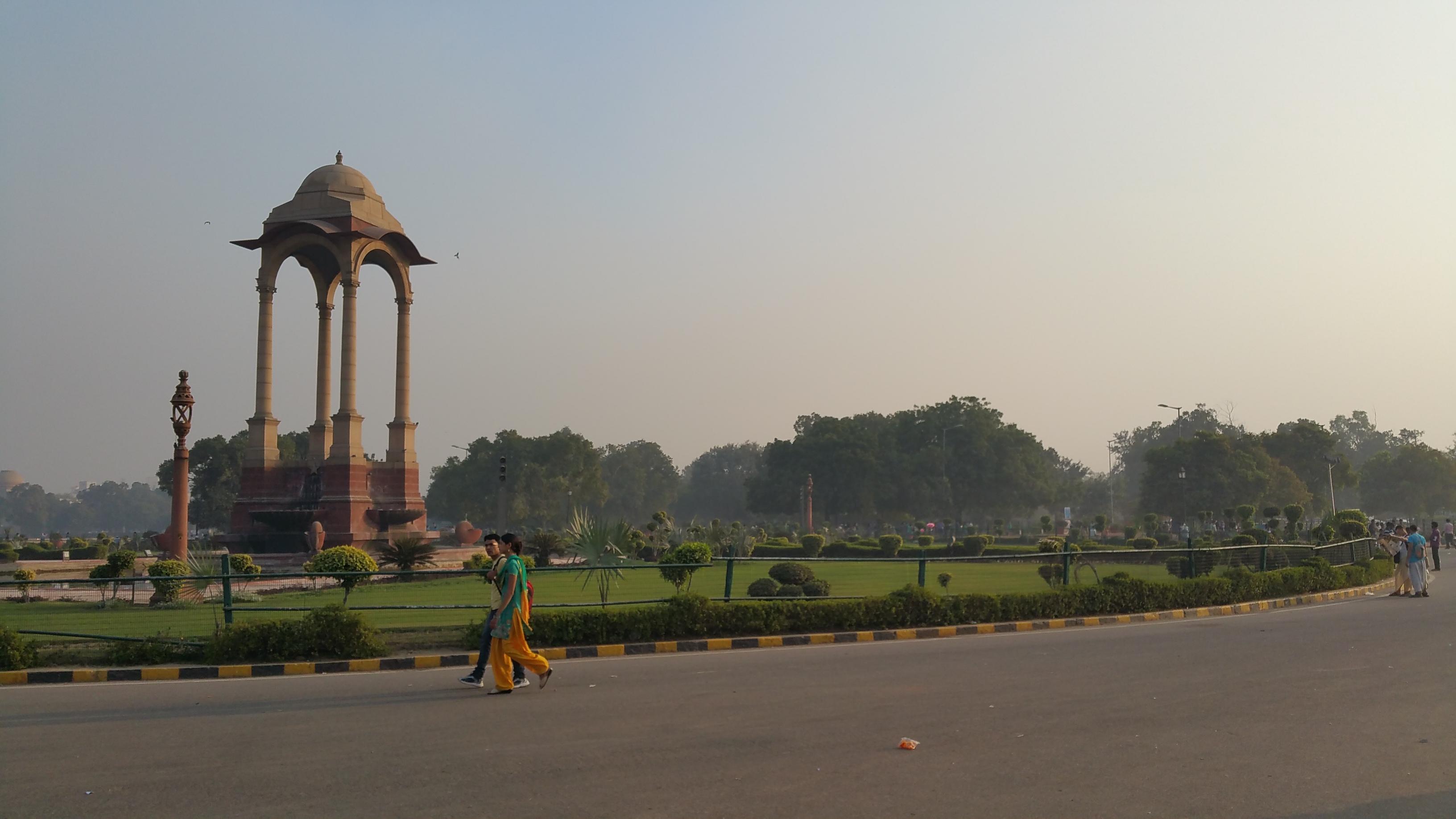 Inside the India Gate, New Dehli, India.