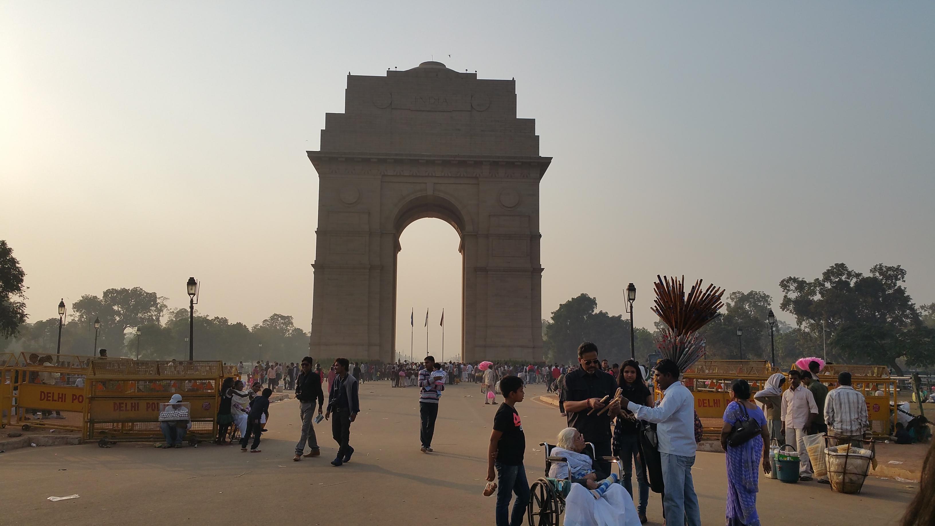 The India Gate, New Dehli, India.