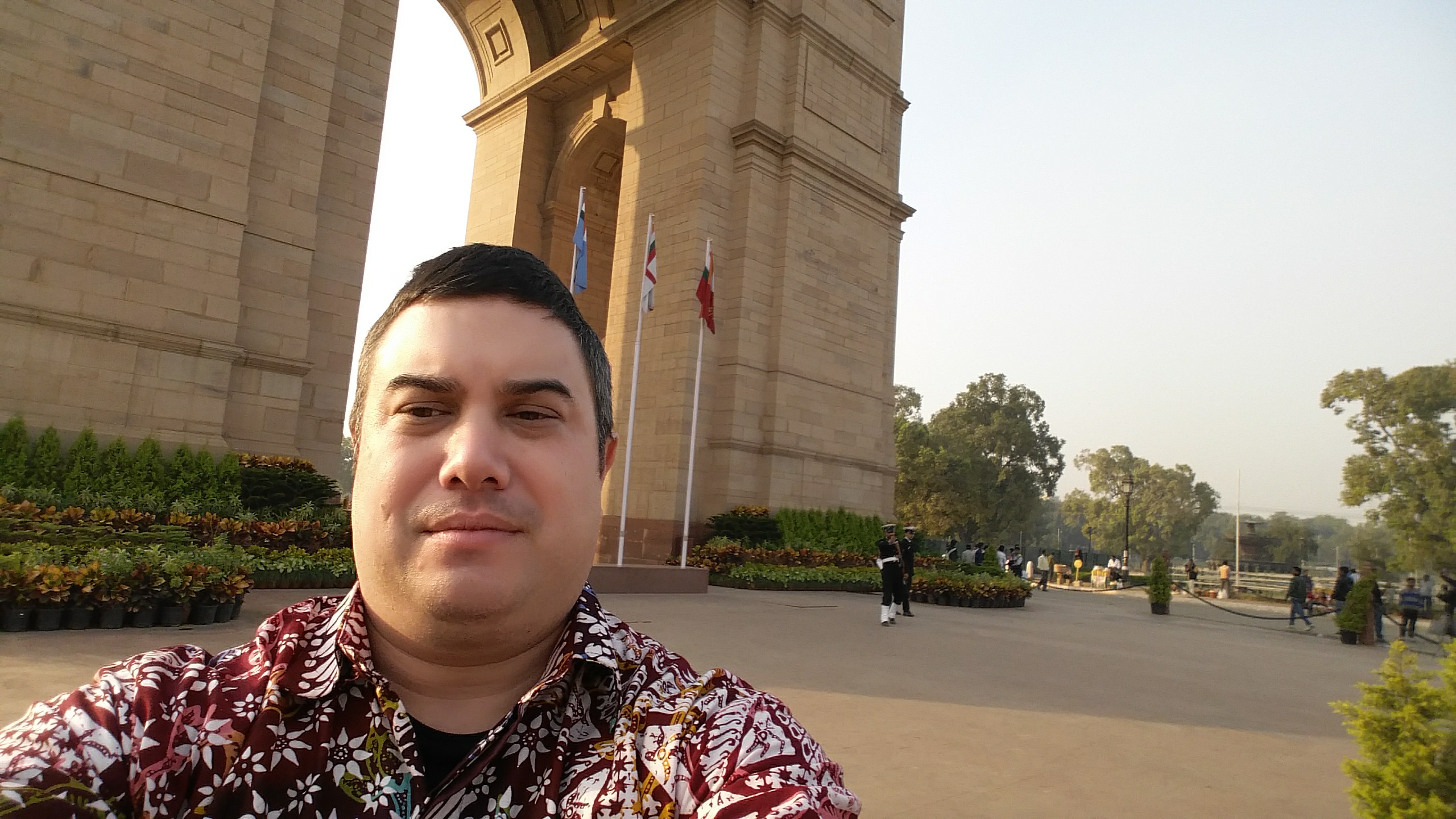 Kevin at the India Gate, New Dehli, India.