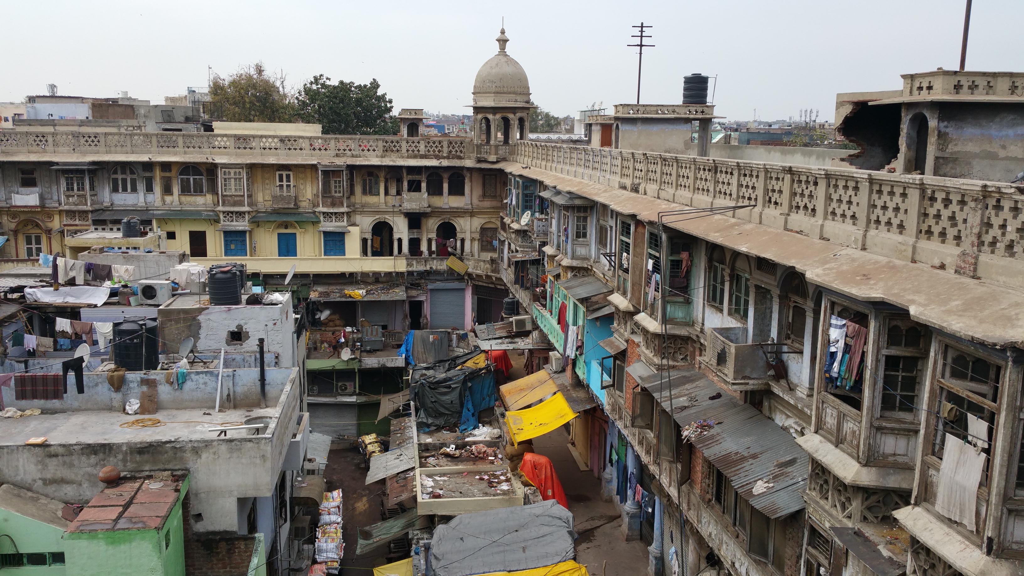 Poor part of New Dehli, India.