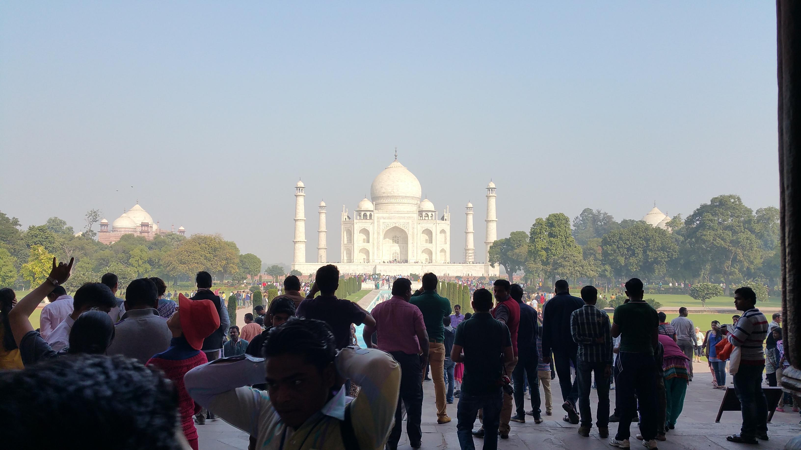 A view of the Taj Mahal, Agra, India.