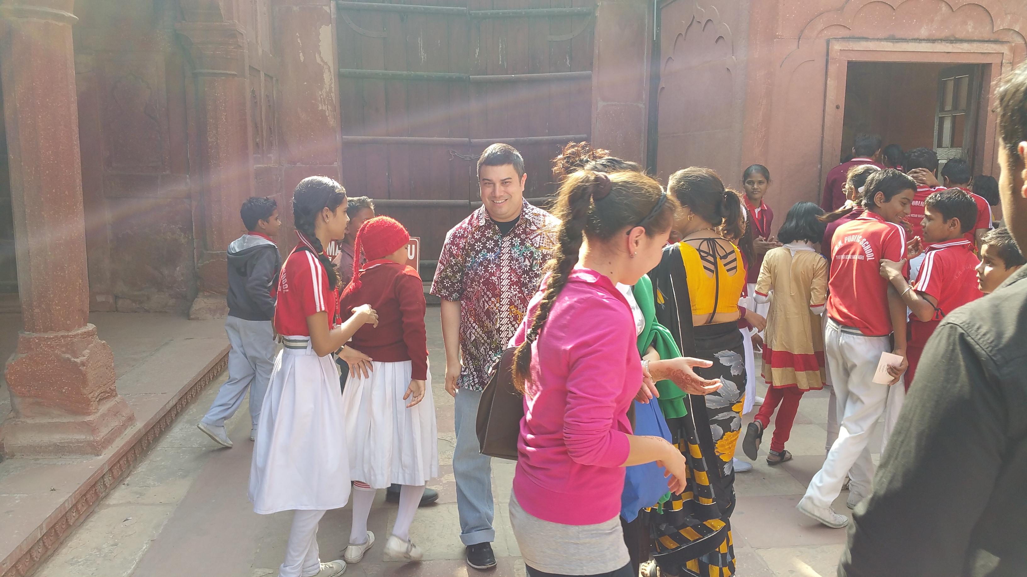 Indian students like Aida and Zarina - Taj Mahal - Agra, India.