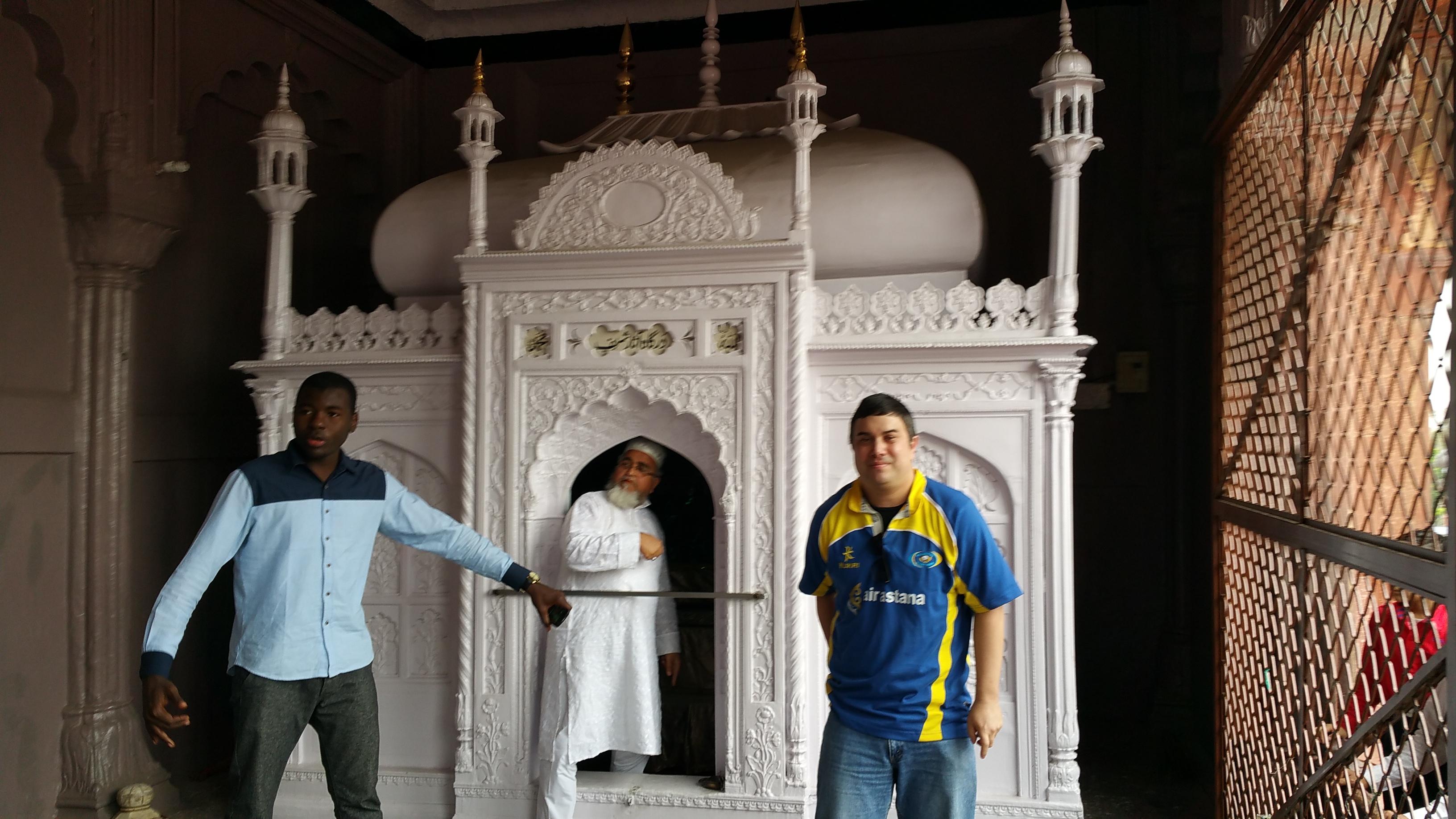 Tomb inside the Jama Masjid, New Dehli, India.
