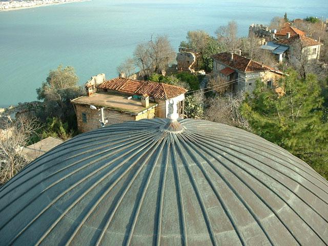 Dome at Suleymaniye Camii in Alanya, Turkey.