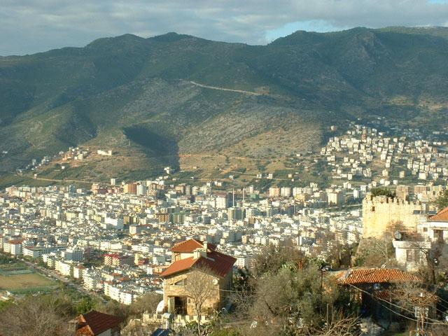 View of Alanya from the Suleymaniye Camii in Alanya, Turkey.