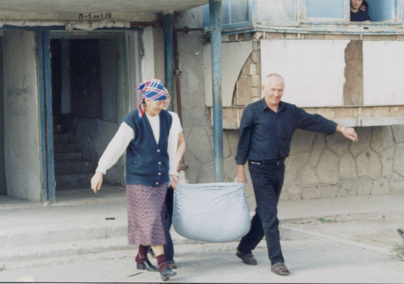 Aelita, her mother, and my driver - Talas, Kyrgyzstan.