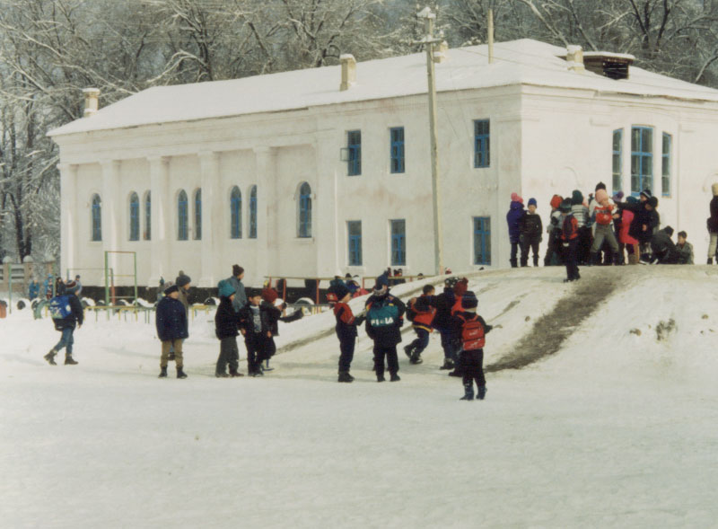 The school where we held the exams and interviews - Talas, Kyrgyzstan.