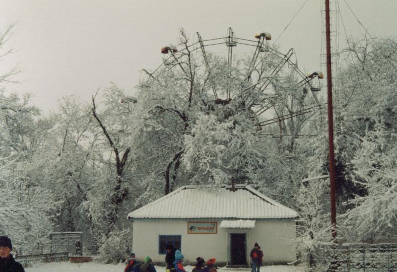 Winter in Talas, Kyrgyzstan.