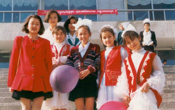 Karatau Students in Winter, 1997