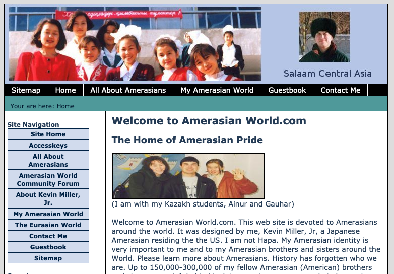 The old AmerasianWorld.com site entirely in XHTML 1.1