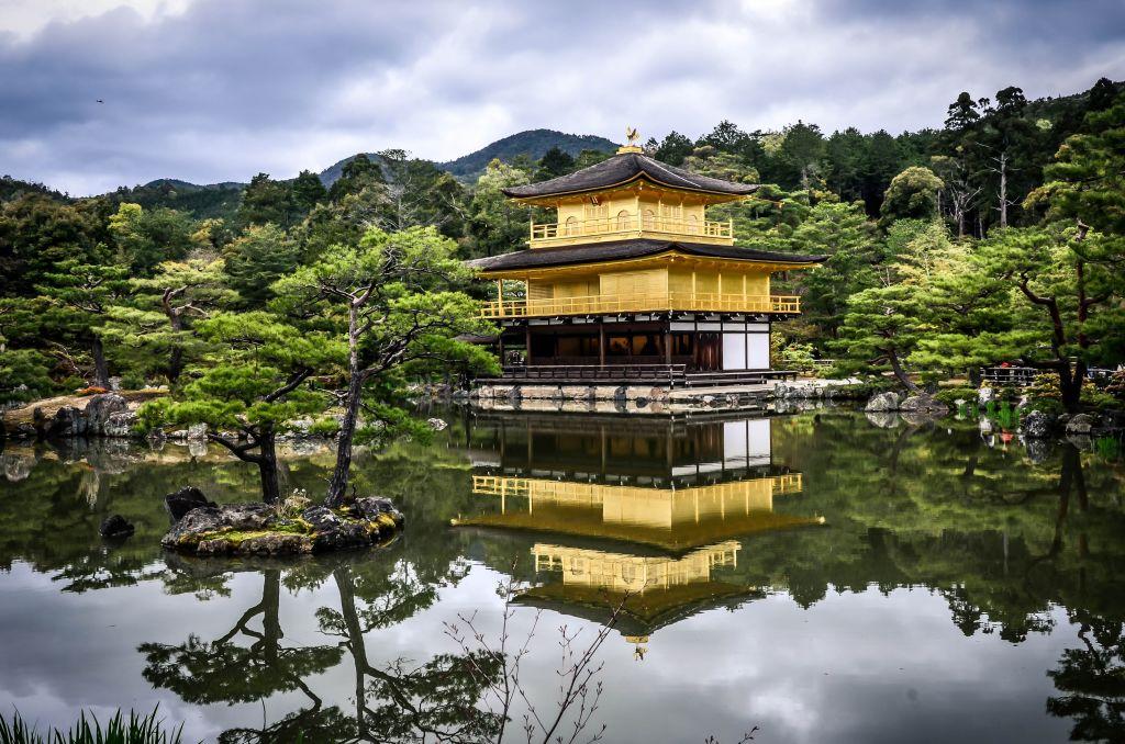Den gyllene paviljongen, Kyoto, Japan