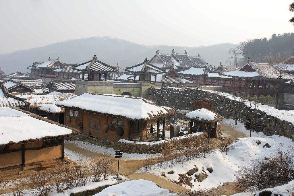 korean village snow